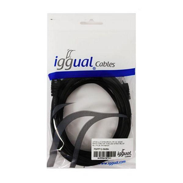 Category 5 UTP cable iggual PSIPP12-3M/BK 3 m Black-Universal Store London™