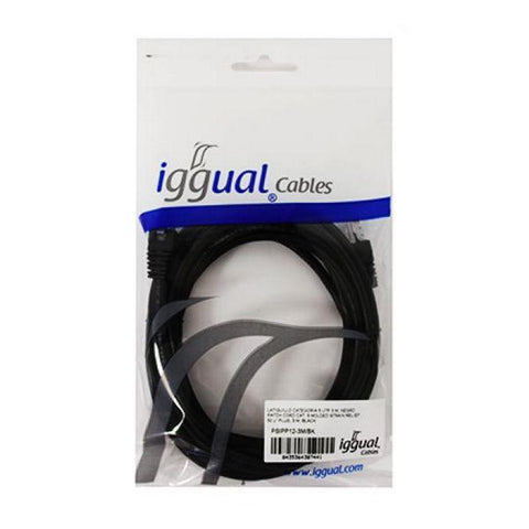 Image of Category 5 UTP cable iggual PSIPP12-3M/BK 3 m Black-Universal Store London™