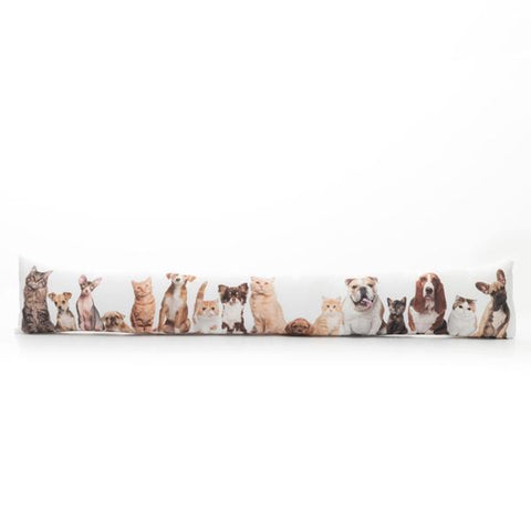Cats and Dogs Draught Excluder Cushion-Universal Store London™