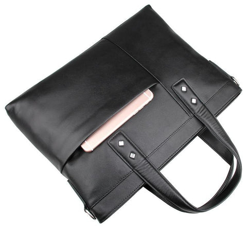 Image of Chancery Leather Briefcase Laptop Bag-Universal Store London™