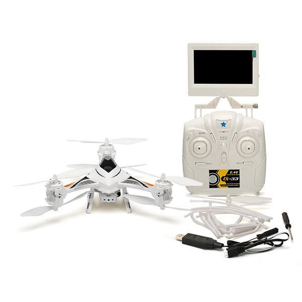 Cheerson CX-33S CX33S 2.0MP HD Camera 5.8G FPV With High Hold Mode RC Tricopter-Universal Store London™