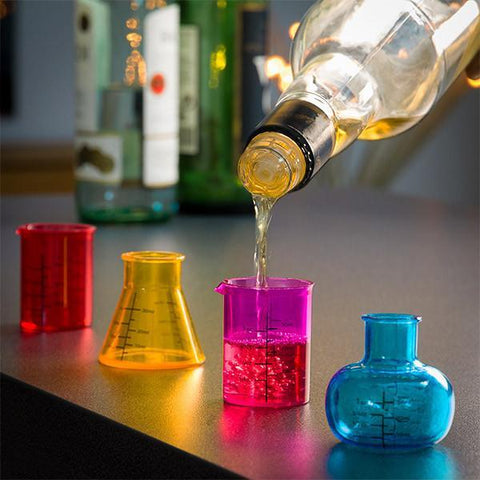Image of Chemistry Shot Glasses (pack of 4)-Universal Store London™