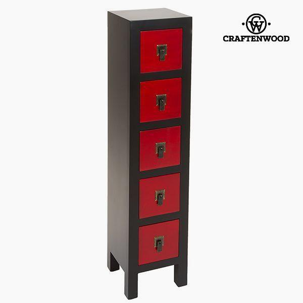 Chest of drawers Mdf (25 x 24 x 108 cm) - Modern Collection by Craftenwood-Universal Store London™
