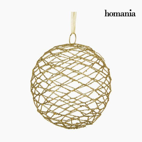 Image of Christmas Bauble Iron Golden by Homania-Universal Store London™