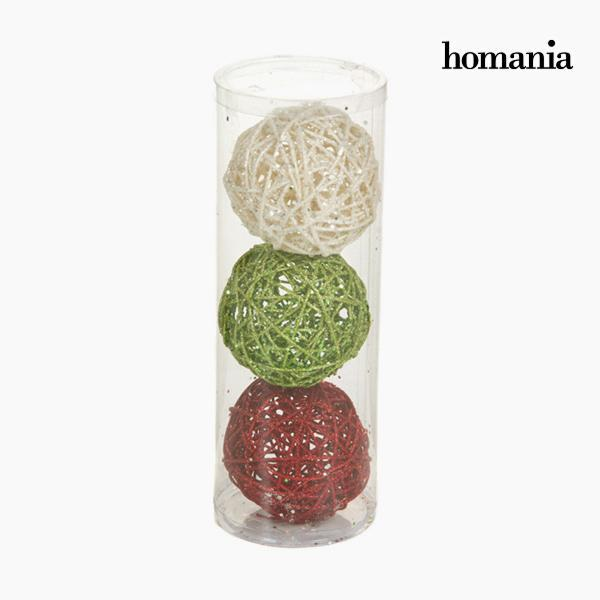 Christmas Baubles Red Green White (3 pcs) by Homania-Universal Store London™
