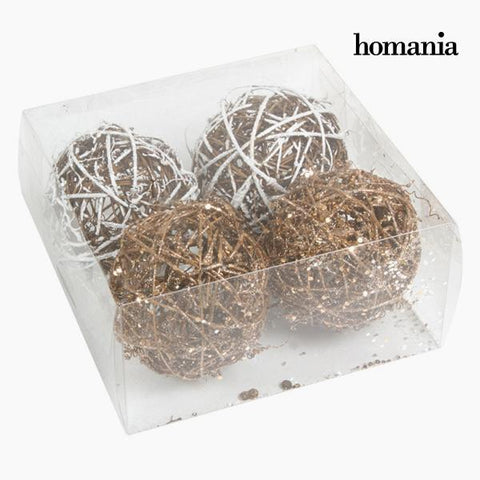 Image of Christmas Baubles White Gold (4 pcs) by Homania-Universal Store London™