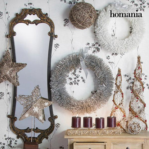 Image of Christmas Tree Wire netting Rattan Natural Champagne (16 x 16 x 60 cm) by Homania-Universal Store London™