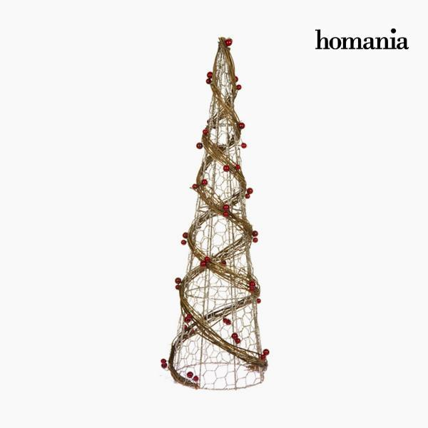 Christmas Tree Wire netting Rattan Natural Champagne (16 x 16 x 60 cm) by Homania-Universal Store London™