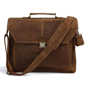 City Leather Laptop Briefcase-Universal Store London™