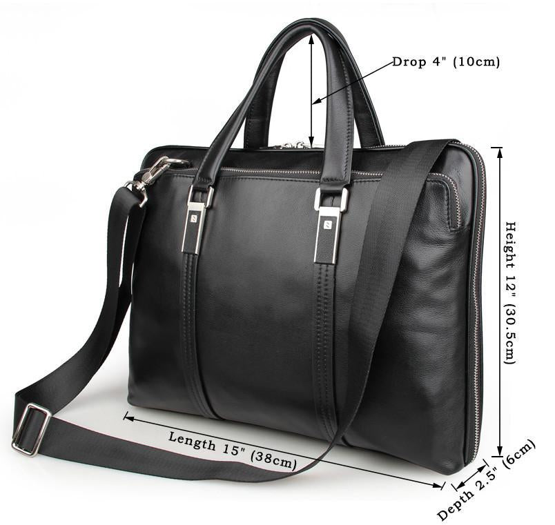 City Leather Portfolio Briefcase-Universal Store London™