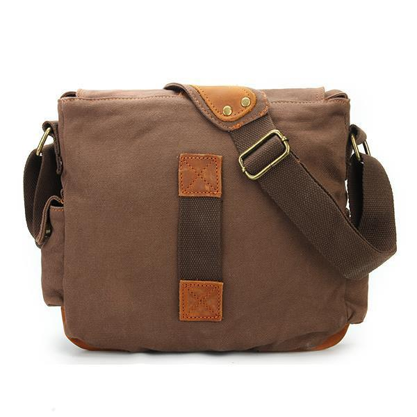 Classic Canvas and Leather Messenger Bag-Universal Store London™