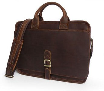 Classic Handmade Leather Vintage Briefcase-Universal Store London™