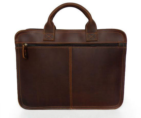 Image of Classic Handmade Leather Vintage Briefcase-Universal Store London™
