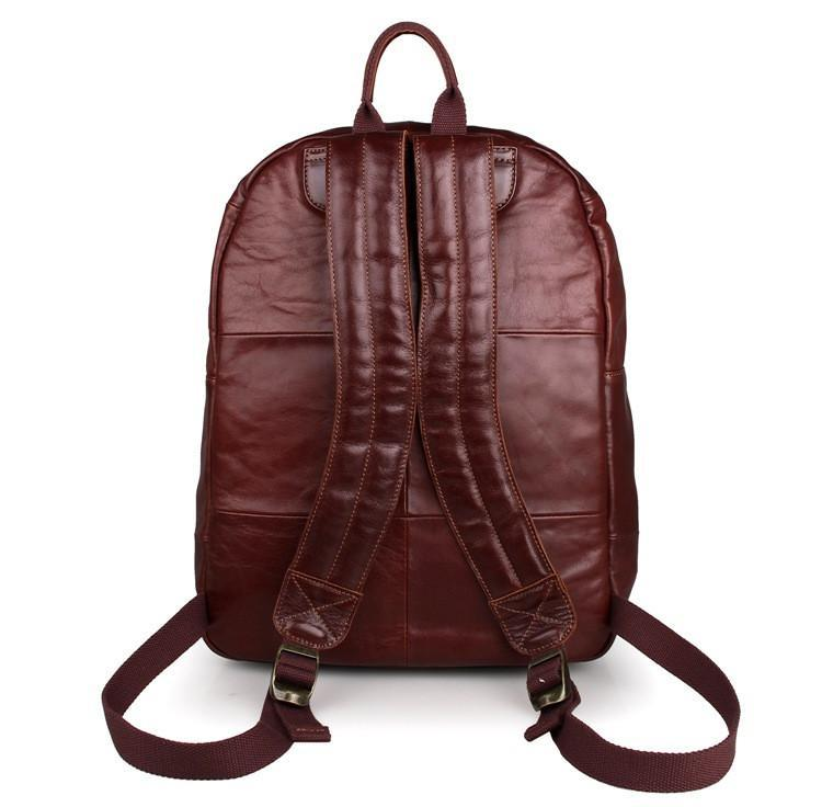 Classic Style Brown Leather Backpack-Universal Store London™