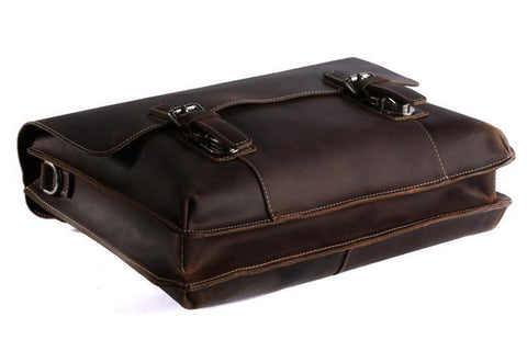 Image of Classic Style Leather Laptop Briefcase Messenger Bag-Universal Store London™