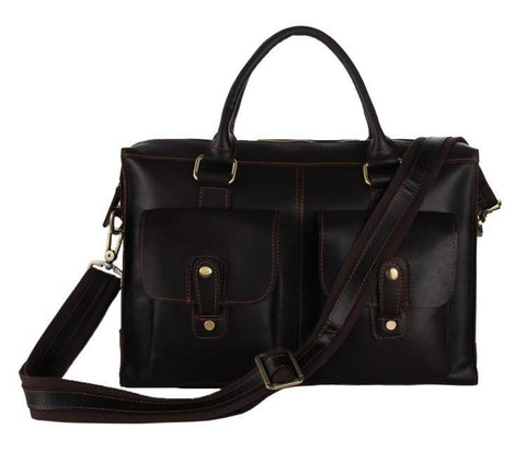 Image of Conrad Leather Briefcase-Universal Store London™