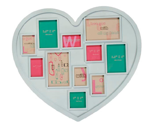 Image of Heart Photo Frame (11 Photos)-Universal Store London™