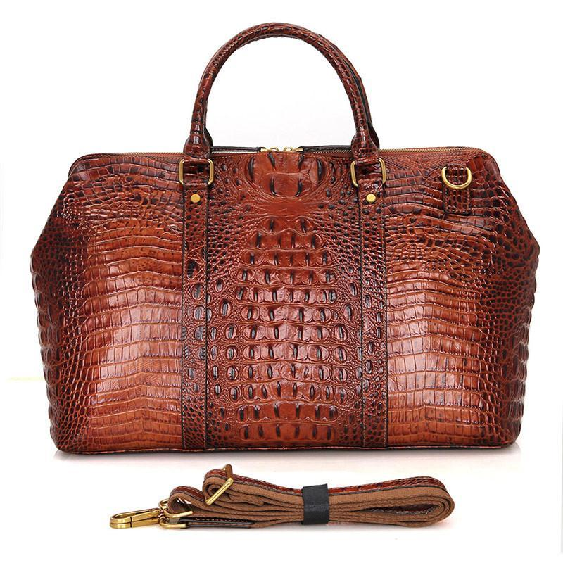 Croc-Embossed Leather Duffel-Universal Store London™