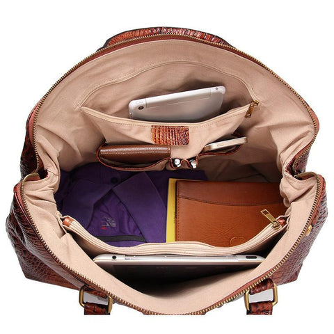 Image of Croc-Embossed Leather Duffel-Universal Store London™