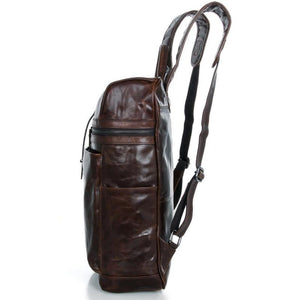 'Cronus' Handmade Saddle Leather Backpack-Universal Store London™