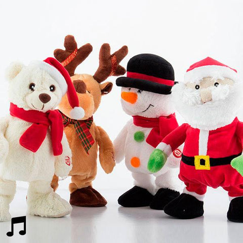 Dancing and Singing Christmas Figurine-Universal Store London™