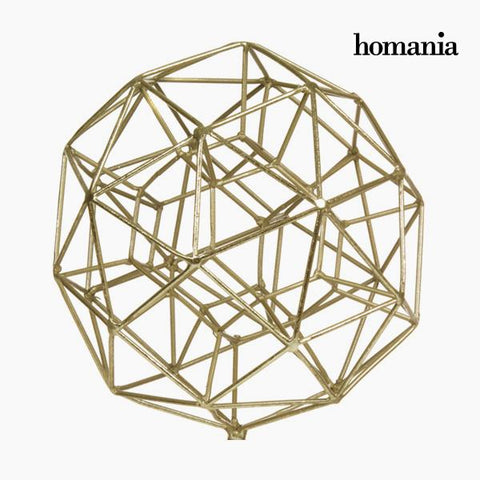 Decorative Figure Polyhedron Gold by Homania-Universal Store London™