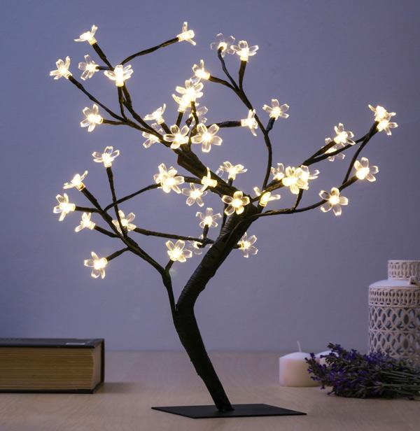 Decorative Tree with Flowers (48 LED)-Universal Store London™