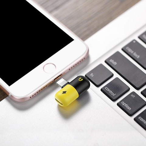 Dual Lightning Splitter Audio+Charge Adapter for iPhone-Universal Store London™