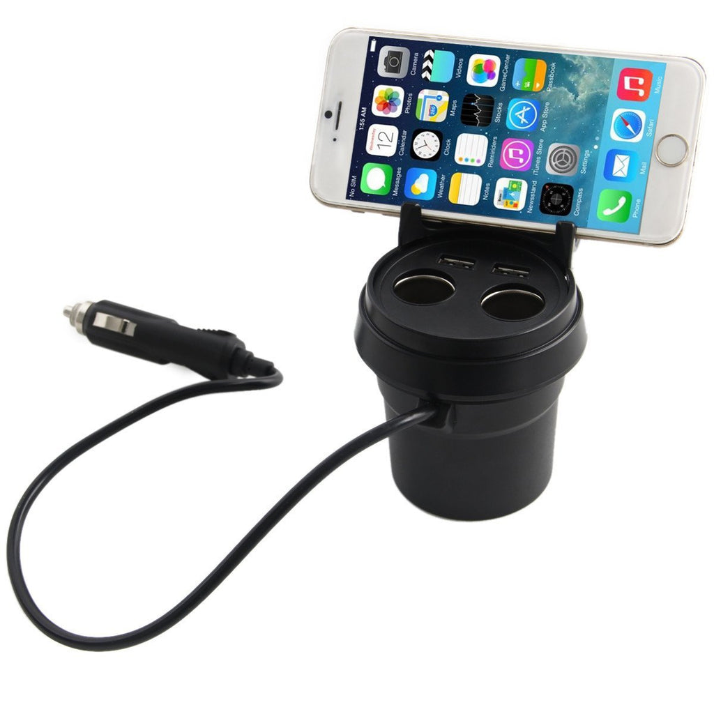 Dual USB Car Charger Adapter with 2 Socket Cigarette Lighter Adapter DC Outlet Splitter-Universal Store London™
