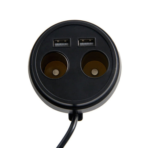 Image of Dual USB Car Charger Adapter with 2 Socket Cigarette Lighter Adapter DC Outlet Splitter-Universal Store London™