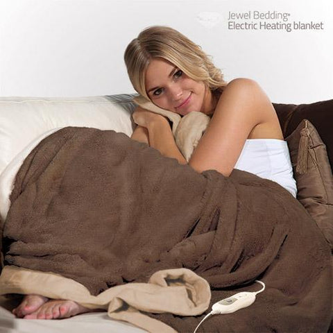 Image of Electric Heating Blanket Electric Fleece Blanket 160 x 120 cm-Universal Store London™