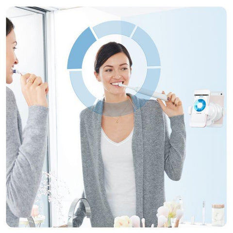 Image of Electric Toothbrush Oral-B 224131 3D Bluetooth Waterproof Pink Rechargeable battery-Universal Store London™