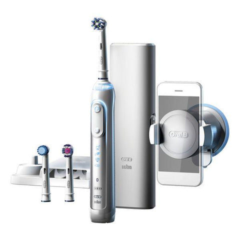 Image of Electric Toothbrush Oral-B 224133 Bluetooth 3D Waterproof White Rechargeable battery-Universal Store London™