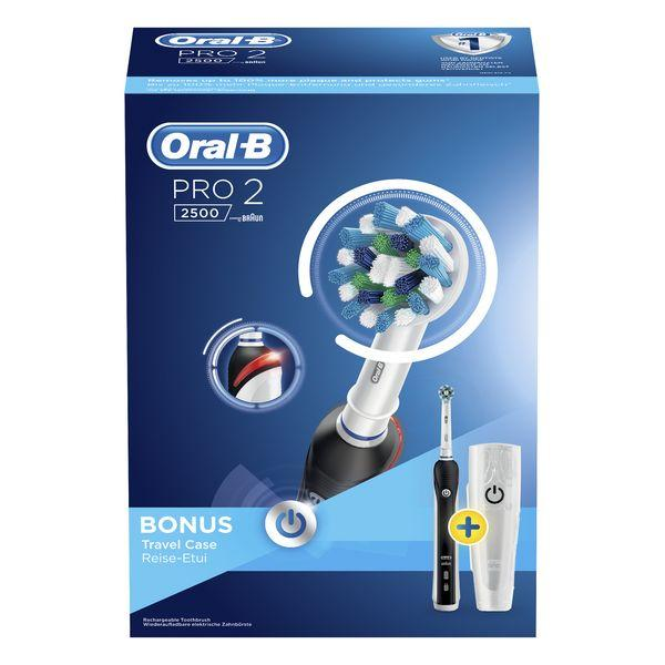 Electric Toothbrush Oral-B 224134 Waterproof Black Rechargeable battery-Universal Store London™