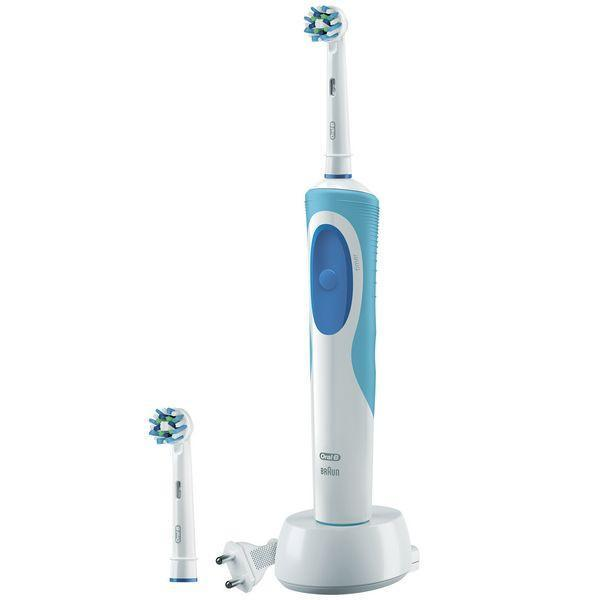 Electric Toothbrush Oral-B CrossAction Plus Vitality Blue White-Universal Store London™