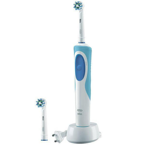 Image of Electric Toothbrush Oral-B CrossAction Plus Vitality Blue White-Universal Store London™