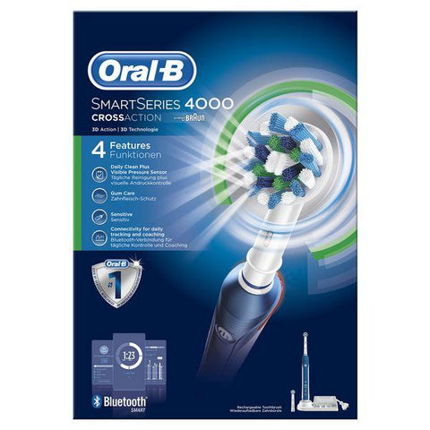 Image of Electric Toothbrush Oral-B Pro 4000 SmartSeries Blue White-Universal Store London™