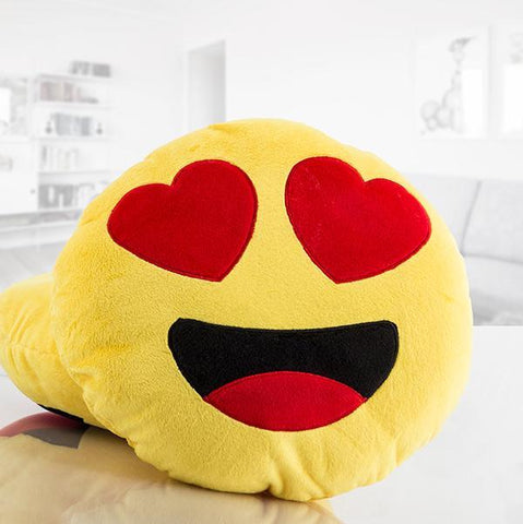 Emoji Heart Eyes Cushion-Universal Store London™
