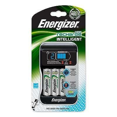 Energizer Intelligent AA/AAA Battery Charger Plus 4AA Rechargeable Batteries-Universal Store London™
