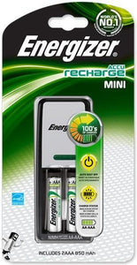 Energizer Mini Charger with 2 x 850mAh AA Rechargeable Batteries-Universal Store London™