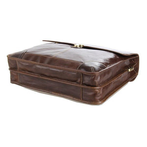 Executive Attache Full Grain Leather Briefcase-Universal Store London™