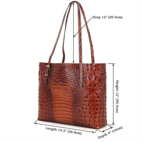 Exotic Leather Tote Bag Handbag-Universal Store London™