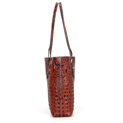 Image of Exotic Leather Tote Bag Handbag-Universal Store London™