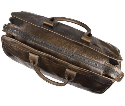 Image of Explorer Leather Holdall-Universal Store London™