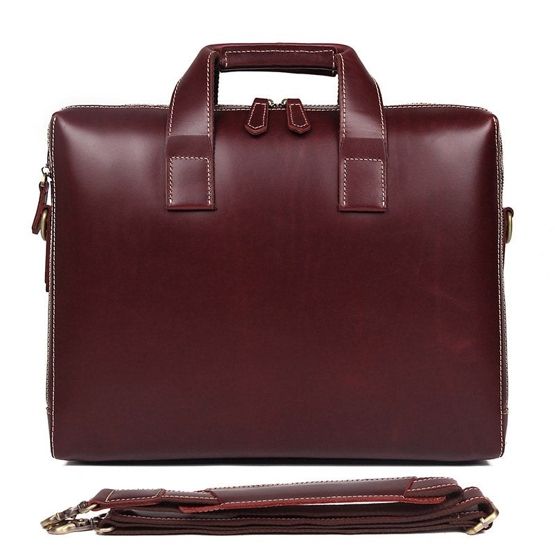 'Grosvenor' Leather Double Zip Workbag-Universal Store London™