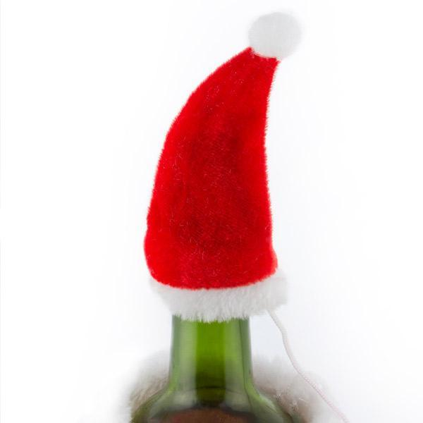 Father Christmas Hat and Coat for Bottles-Universal Store London™