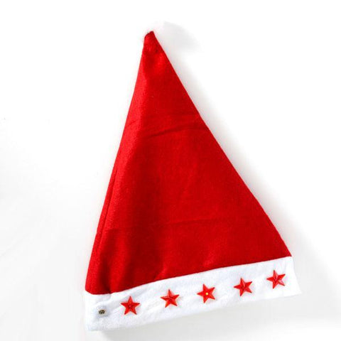 Image of Father Christmas Hat with LED Stars-Universal Store London™