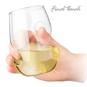 Final Touch Conundrum White Wine Glasses - Set of 4-Universal Store London™