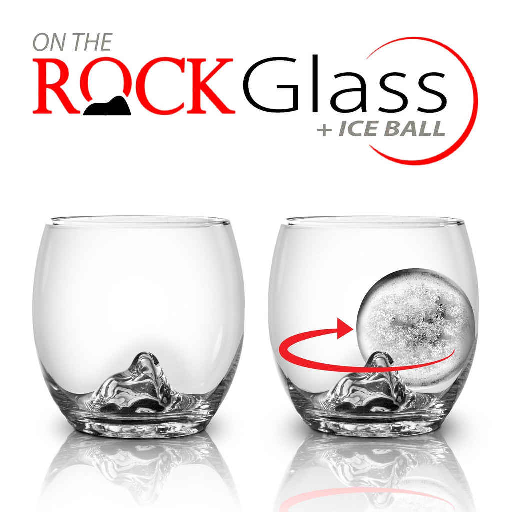 Final Touch On The Rock Glass and Ice Ball-Universal Store London™