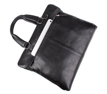 'Fitzrovia' Black Leather Business Bag-Universal Store London™